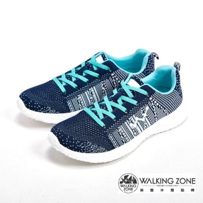 WALKING ZONE 天痕戶外瑜珈鞋系列 綁帶運動鞋女鞋-藍(另有粉、白)