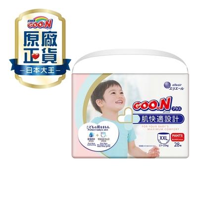 GOO.N日本大王紙尿布 境內版 肌快適系列-褲型XXL(28片x6包)/箱