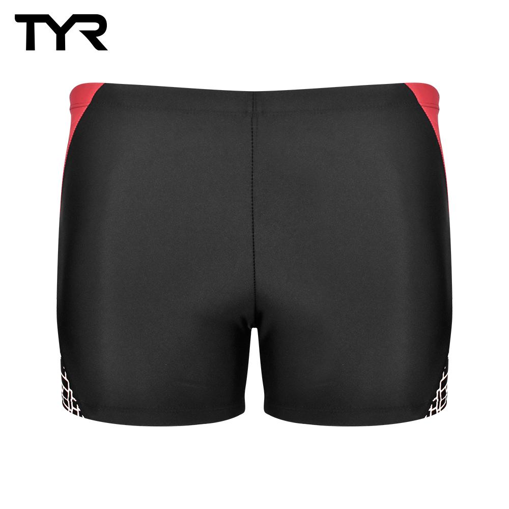 美國TYR 男用四角泳褲 黑紅 Nyke Boxer