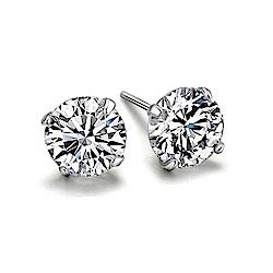 米蘭精品 925純銀耳環-鑲鑽時尚經典百搭耳環