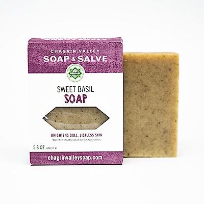 美國Chagrin Valley 天然甜羅勒有機大麥草手工皂 5.8 OZ
