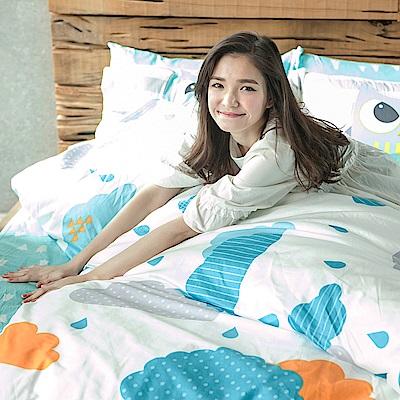 戀家小舖 / 單人床包枕套組  遇見朵朵-兩色可選  100%精梳棉  台灣製
