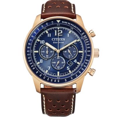CITIZEN 星辰 沉穩時尚光動能計時腕錶(CA4503-18L)