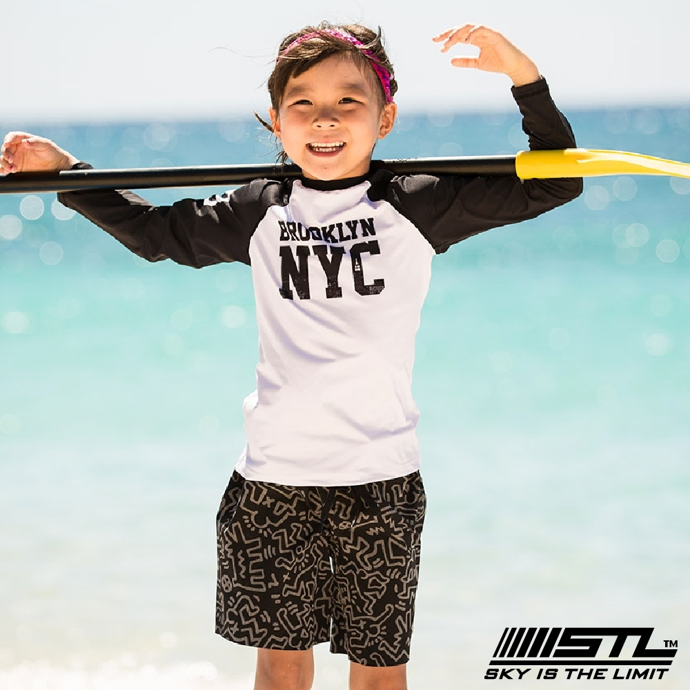 STL kids 兒童 韓國 海灘/海邊 機能運動戶外 膝上 海灘褲 凱斯哈林