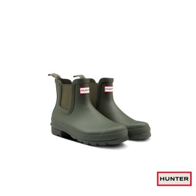 HUNTER - 女鞋 - Original新版切爾西霧面踝靴 - 墨綠