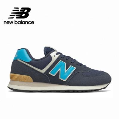 [New Balance]復古運動鞋_中性_黑藍_ML574MS2-D楦