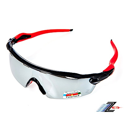 【Z-POLS】極地悍將系列新太空纖維材質100%Polarized一片式電鍍偏光運動眼鏡