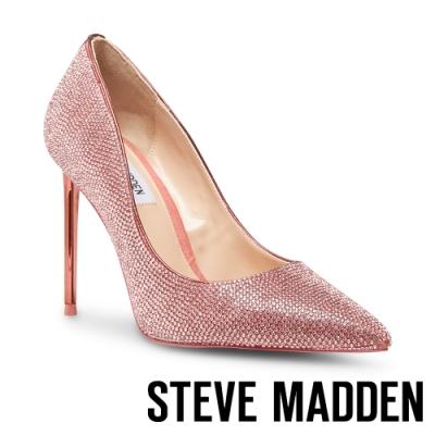 STEVE MADDEN-VIVACIOUS 甜美風格 水鑽玫瑰金跟高跟鞋-粉鑽