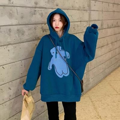【韓國K.W.】(預購)韓新品美式連帽上衣