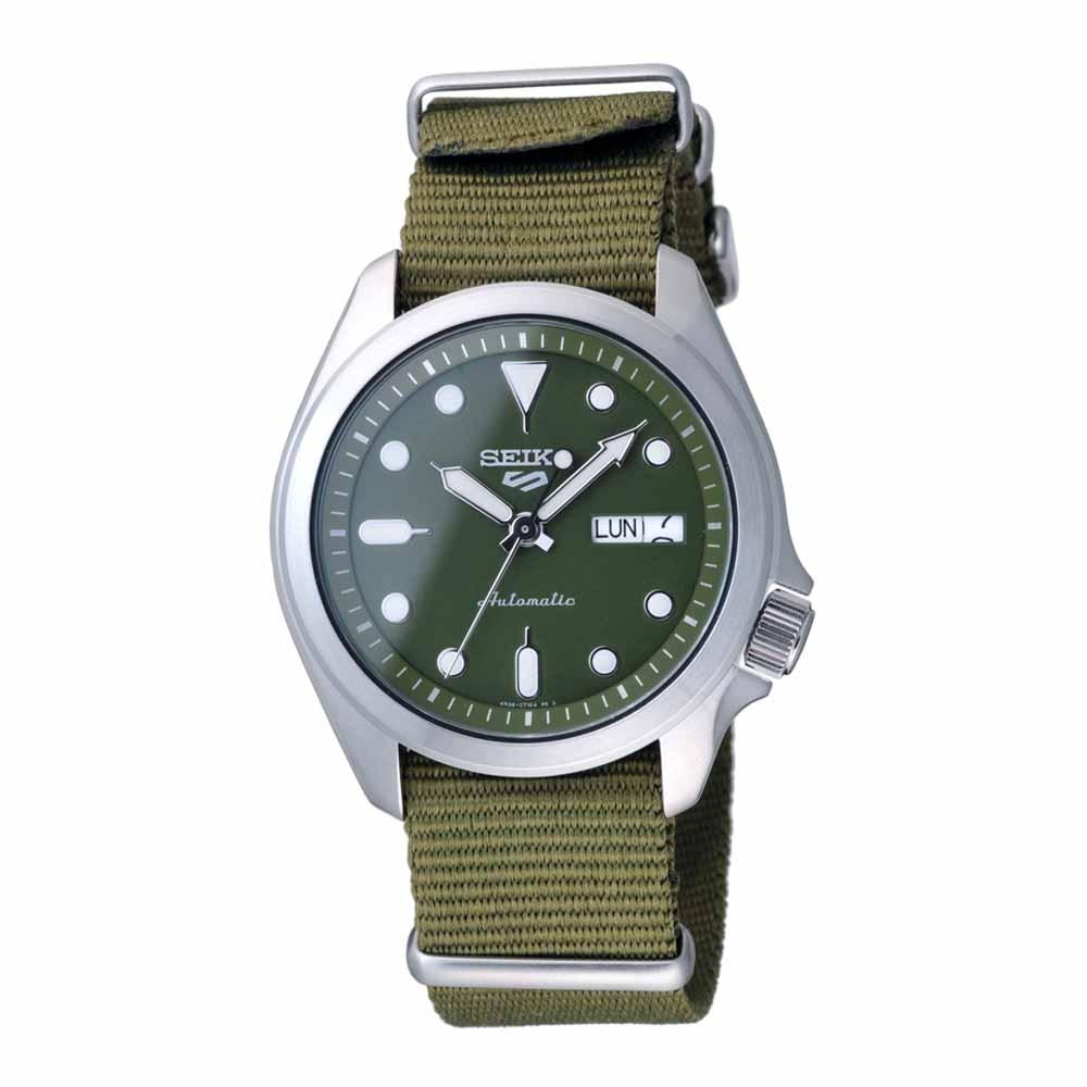 SEIKO 次世代5號潮流機械腕錶-銀X綠-SRPE65K1-40mm
