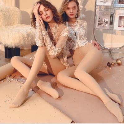 【梨花HaNA】冬季新款韓國1900D壓力牛奶絨ainimore光腿神器踩腳襪