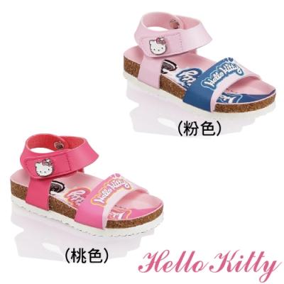 (雙11)Hello Kitty童鞋 輕量減壓腳床型涼鞋-桃.粉