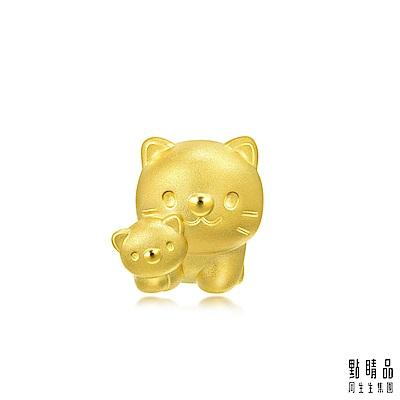 點睛品 Charme 母子貓咪 黃金串珠