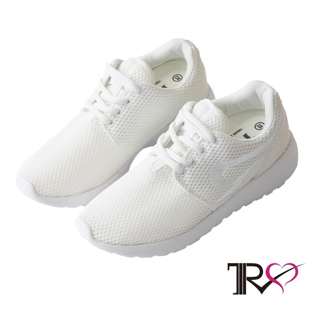 TRS 韓國TRS空氣增高鞋內增高7公分休閒鞋-白
