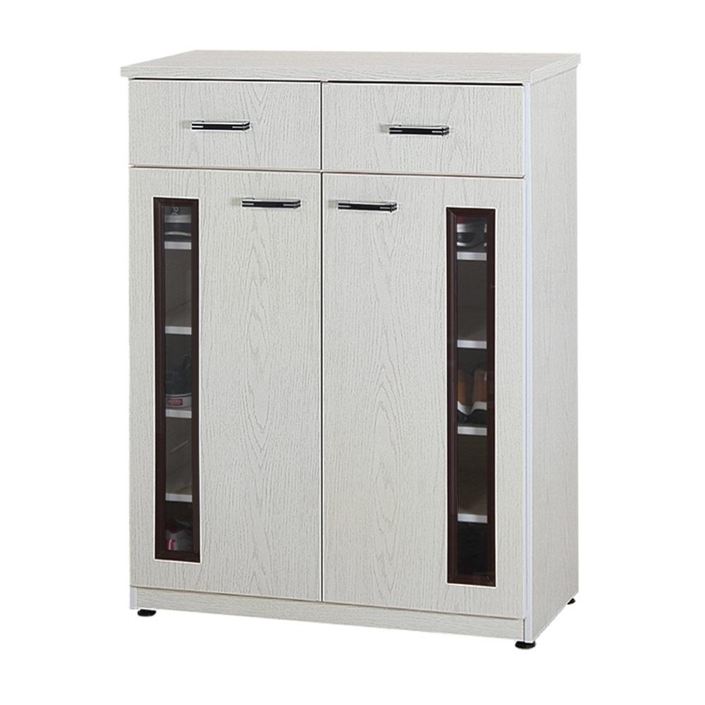 文創集 艾賓森2.8尺塑鋼二門二抽鞋櫃/收納櫃(13色)-83x37x112cm免組