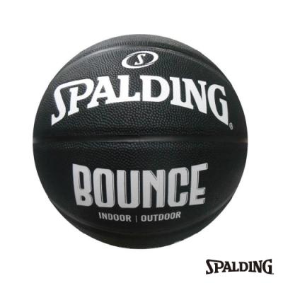 SPALDING 斯伯丁 Bounce 籃球 PU 7號 黑/白