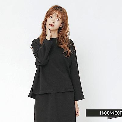 H:CONNECT 韓國品牌 女裝-休閒感兩件式套裝-黑