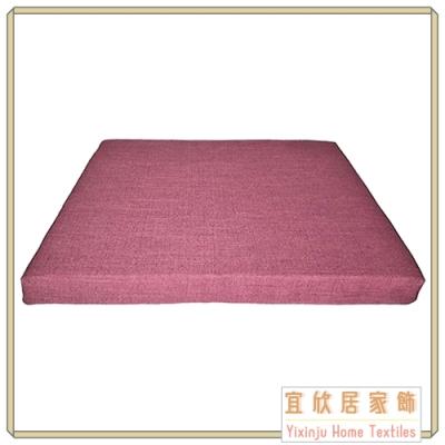 【宜欣居傢飾】亞麻紫 仿麻精緻實木椅座墊 6入(紫)55*55*5cm 台灣製