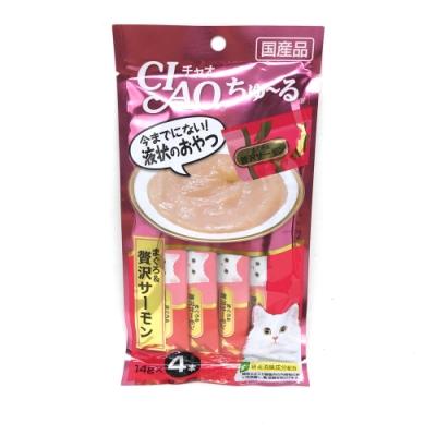 日本 CIAO 啾嚕燒肉泥 SC-143 鮪魚&鮭魚風味 14g*4入