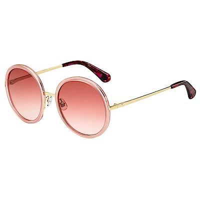 Kate Spade LAMONICA/S -潮流圓框太陽眼鏡 粉色
