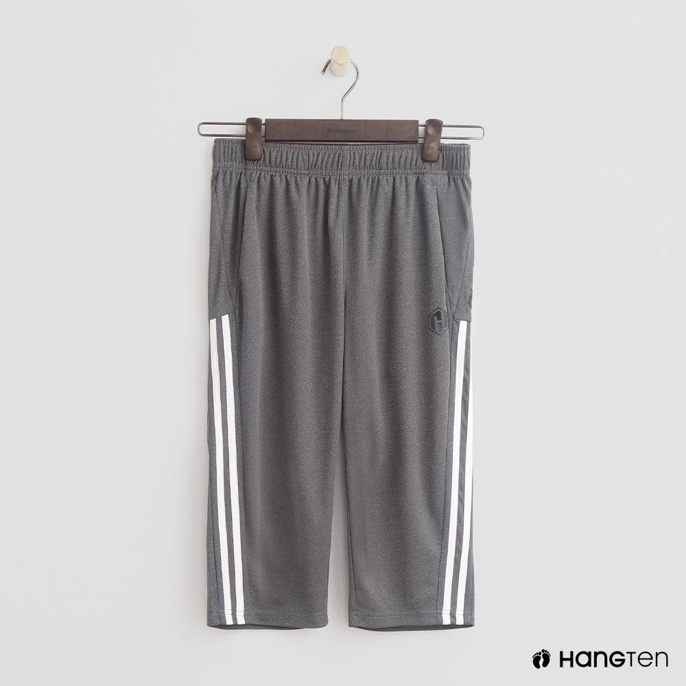 Hang Ten- 青少童裝-舒適棉質休閒短褲-灰
