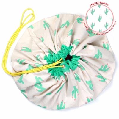 【比利時 Play & Go】玩具整理袋-綠色仙人掌
