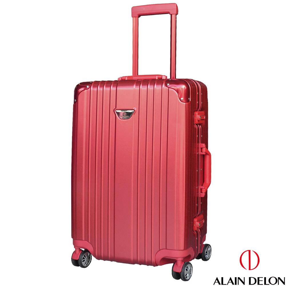 ALAIN DELON 亞蘭德倫 24吋流線雅仕系列行李箱  (紅) @ Y!購物
