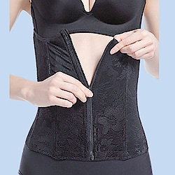 塑身衣拉鍊腰封修飾腹部腰部塑身衣(S-3XL)  多色  狐狸姬