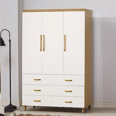 D&T德泰傢俱 愛杜莎4X7尺衣櫥-121x58x192cm
