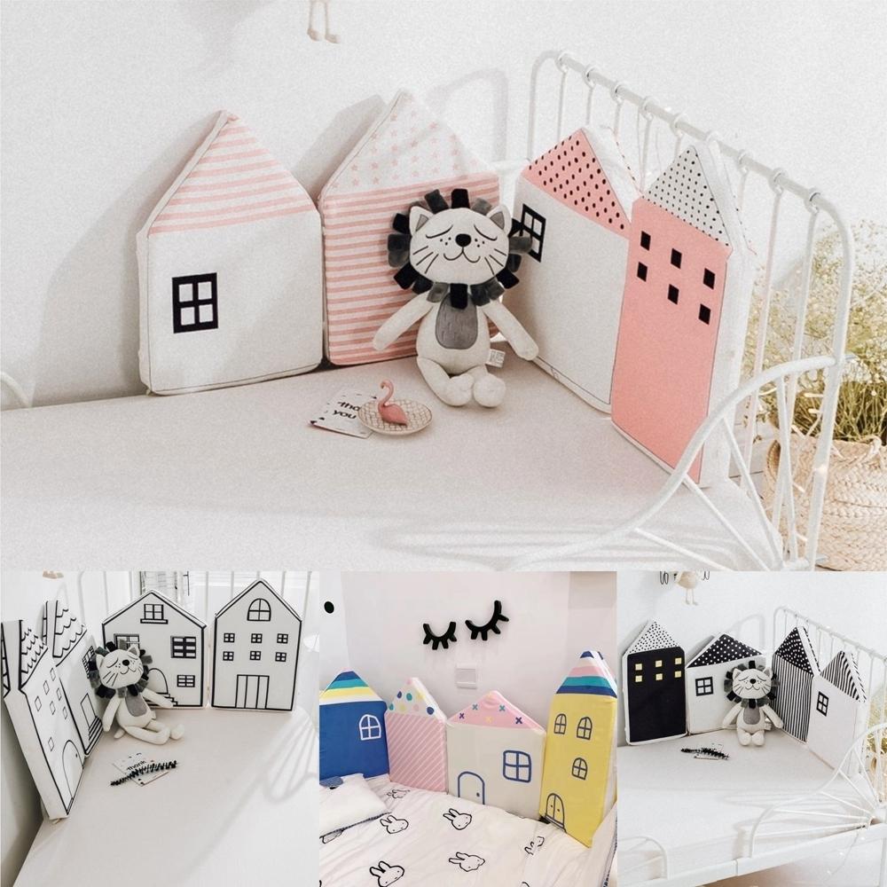 Kori Deer 可莉鹿 北歐小房子加高型嬰兒童床圍/床邊護欄/床圍/安全護欄