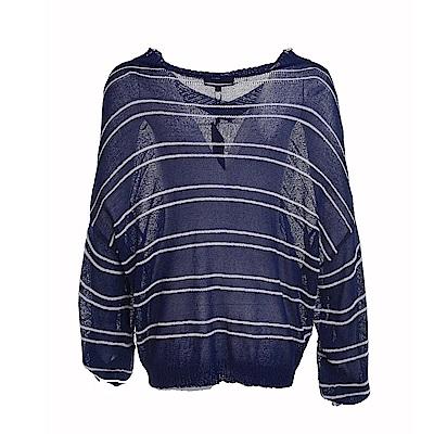 gozo 條紋縷空薄質針織衫(二色)