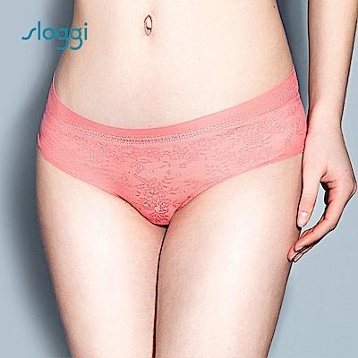 sloggi Zero Lace 零感蕾絲平口褲  粉紅葡萄柚