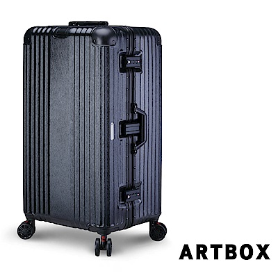 【ARTBOX】奧頌漫遊 30吋運動款胖胖鋁框行李箱(經典黑)