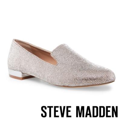 STEVE MADDEN SMILE 時髦圓頭百搭樂福鞋-銀色