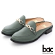 【bac】繩索金屬飾釦樂福平底穆勒鞋-綠色 product thumbnail 1