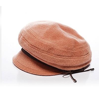 ELLE俏麗活潑個性毛呢帽報僮帽_駝