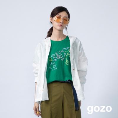 gozo 抽象造型設計印花T恤(二色)