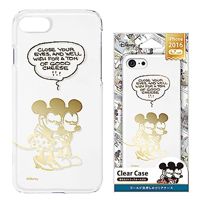 iPhone 8/7 手機殼 迪士尼 PC透明金箔 硬殼 4.7吋-米奇/米妮