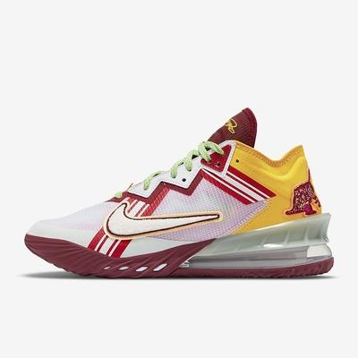 NIKE LEBRON XVIII LOW EP 男 籃球鞋 紅白-CV7564102