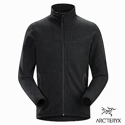 Arcteryx 男 Cover 立領 針織 刷毛保暖外套 黑灰