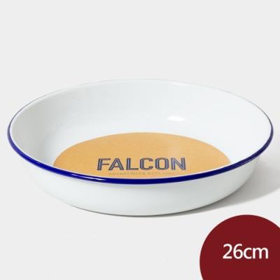Falcon 獵鷹琺瑯 琺瑯圓形深盤 26cm 藍白