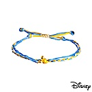 Disney迪士尼系列金飾 黃金/彩色蠟繩手鍊-樂觀米奇款