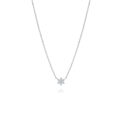 斯通亨奇STONEHENgE 銀色傳說系列純銀花朵造型鋯石項鍊