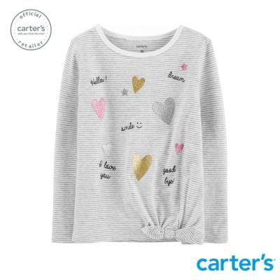 Carter s台灣總代理 英文印圖條紋上衣