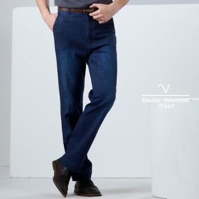 Emilio Valentino沉穩立挺牛仔褲_藍/刷白(30-9A2501)