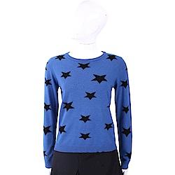 MARELLA 撞色星星寶藍針織羊毛衫