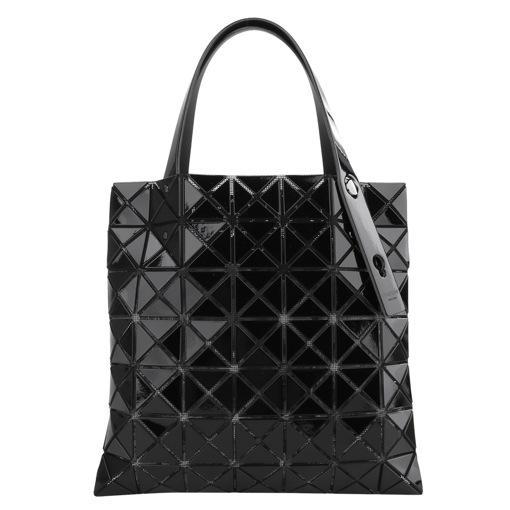 ISSEY MIYAKE  BAOBAO幾何小菱格7x7手提包/黑(亮面)