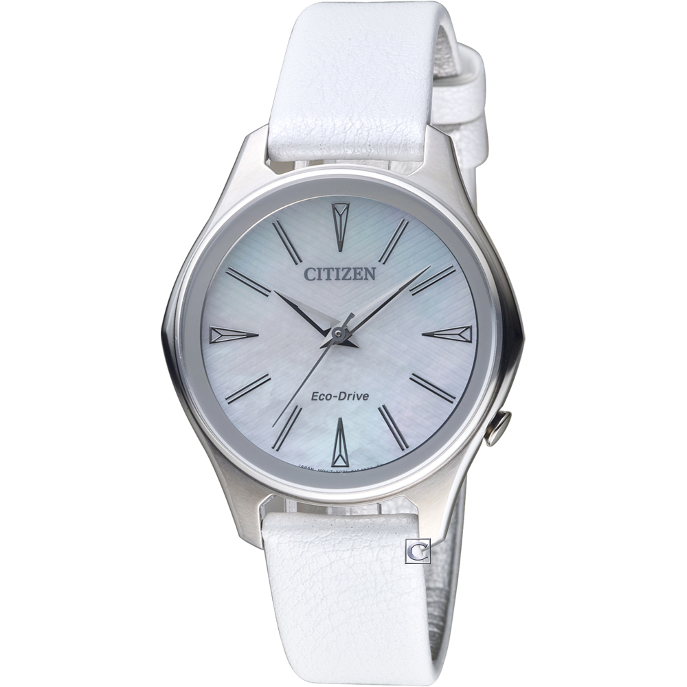 CITIZEN 幾何時尚Eco-Drive腕錶(EM05997-12D)
