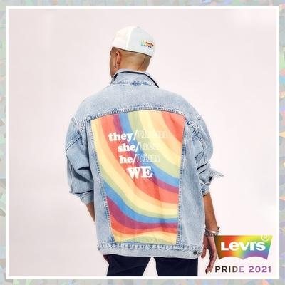 Levis Pride限量平權系列 男女同款 牛仔外套 寬鬆休閒版型 彩虹布標、五金、皮標