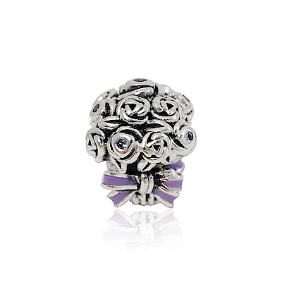Pandora 潘朵拉 繽紛水晶花束 純銀墜飾 串珠